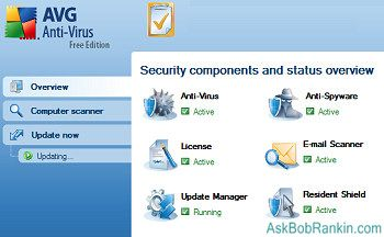AVG Free anti-virus software