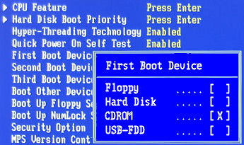 Selecting a boot device