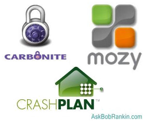 Carbonite, Mozy or CrashPlan