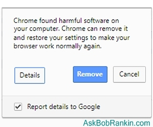 Chrome new anti-malware features