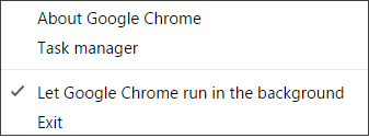 Manage Chrome background tasks