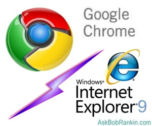 Chrome Versus Explorer