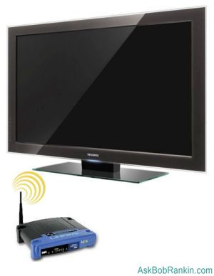Internet connected HDTV