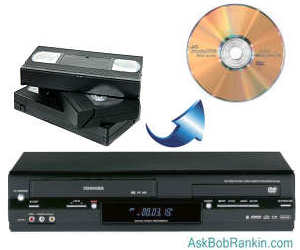Convert VHS tapes to DVD disc