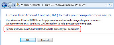 Disable Vista UAC