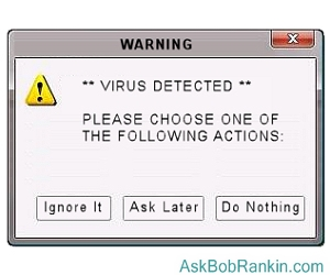 Fake Virus Warning