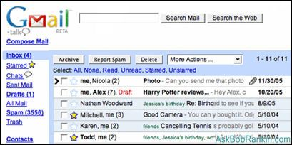GMail webmail service