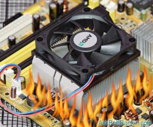 heatsink fan overheating