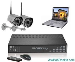 Home security system with cameras