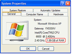How much RAM is installed?
