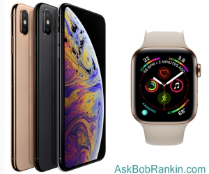 Apple iPhone XS and Apple Watch 4