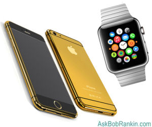 Gold iPhone 6 and Apple Watch
