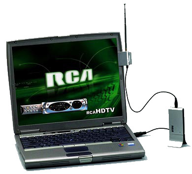 Laptop with USB HDTV tuner
