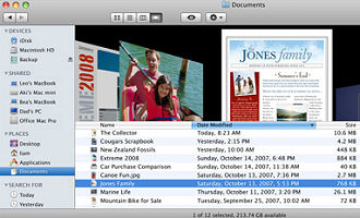 Leopard's Finder looks a lot like iTunes!
