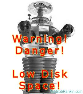 Ignore Low Disk Space Warning?