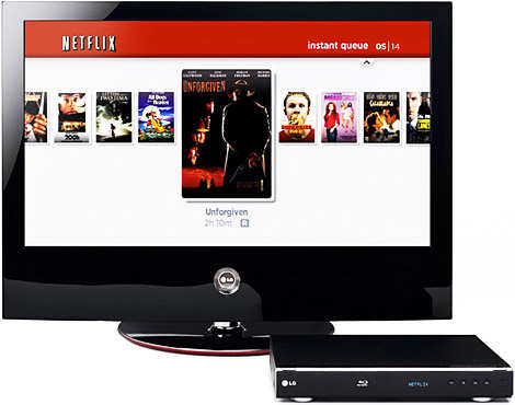 Netflix Streaming to Blu-ray player