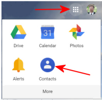 How to open Gmail Contacts