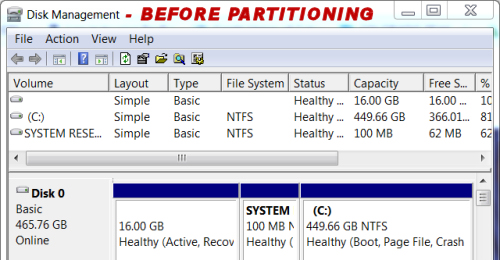 Create Windows 10 partition