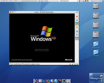 running windows on linux desktop