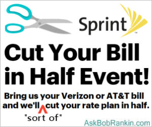Sprint Cut Your Bill in Half Offer