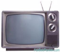 analog tv with rabbit ears antenna