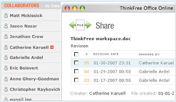ThinkFree online office suite