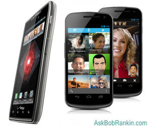 Top Android Phones 2012