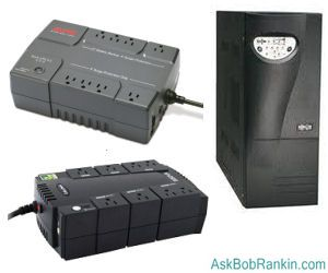 UPS battery backup power supply