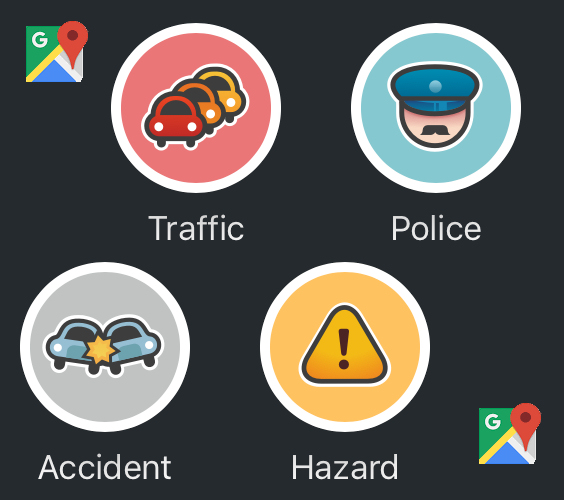 Waze integrated with Google Maps