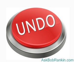 Windows 10 UNDO Button