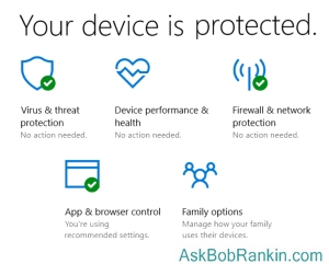 Windows 10 Security Center app